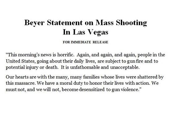Statement On Mass Shooting In Las Vegas